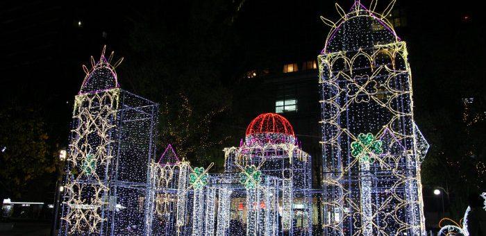 ひろしまドリミネーション 2016  今年は「原爆ドーム」と「厳島神社」のイルミネーション