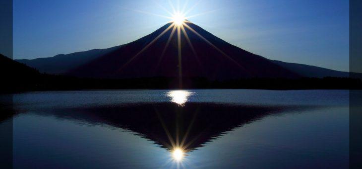 ダイヤモンド富士! 絶景の場所は山中湖と本栖湖